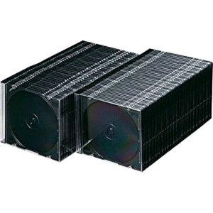 サンワサプライ CD/DVD/Blu−ray対応収納ケース (1枚収納×100セット・マットブラック) FCD‐PU100MBK
