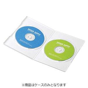 サンワサプライ CD/DVD/Blu−ray対応収納スリムトールケース (2枚収納×10セット) DVD‐TU2‐10W (ホワイト)