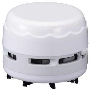 オーム電機 乾電池式卓上そうじ機 JIM-C02-W ホワイト