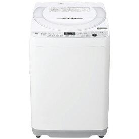 シャープ SHARP 全自動洗濯機[洗濯機7.0kg/穴なし槽/ふろ水ポンプ付] ES-GE7E-W ホワイト系(標準設置無料)