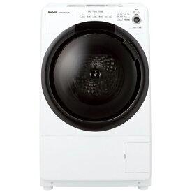 シャープ SHARP ドラム式洗濯乾燥機 [洗濯7.0kg/乾燥3.5kg/ヒーター乾燥/左開き] ES-S7F-WL ホワイト系(標準設置無料)
