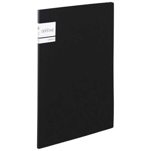セキセイ アドワン クリヤーファイル A4−S 10ポケット ブラック AD2011(ブラ