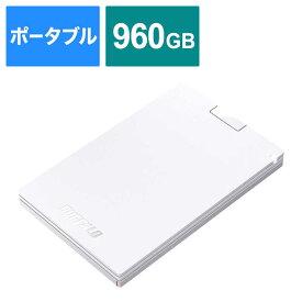 BUFFALO 外付けSSD ホワイト [ポータブル型 /960GB] SSD-PG960U3-WA