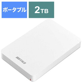 BUFFALO 外付けHDD ホワイト [ポータブル型 /2TB] HD-PGF2.0U3-BWHA