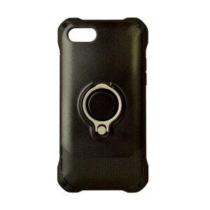 ラスタバナナ iPhone 8 リングスタンド付きケース ブラック  3472IP7SA ブラック