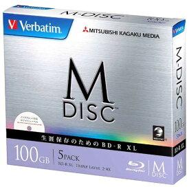 VERBATIMJAPAN 2−4倍速対応 データ用Blu−ray BD−R XL(片面3層・100GB・5枚) DBR100YMDP5V1