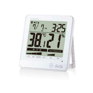 エレコム ELECOM 温湿度警告計 熱中症・インフルエンザ危険察知機能搭載 大画面 ホワイト OND−04WH OND-04WH