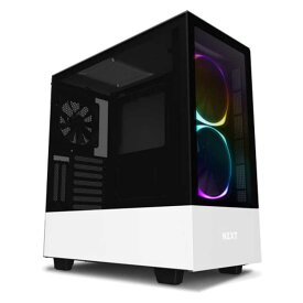 NZXT 高いコストパフォーマンスとスマートな外観のインテリジェントPCケース ELITEモデル 「ATXMicroATXMini−ITX」 CA-H510E-W1 ホワイト/ホワイト