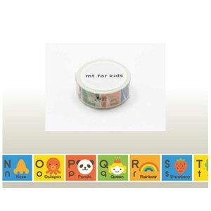 カモ井加工紙 「マスキングテープ」mt for kids (キッズアルファベットN−Z) MT01KID014