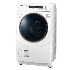 シャープ SHARP ドラム式洗濯乾燥機[洗濯10.0kg/乾燥6.0kg/ヒーター乾燥(水冷・除湿タイプ)/右開き] ES-H10E-WR ホワイト系(標準設置無料)