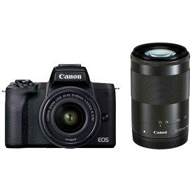 キヤノン CANON EOS Kiss M2 ミラーレス一眼カメラ IS STM ダブルズームキット [ズームレンズ+ズームレンズ] EOSKISSM2BKWZK ブラック