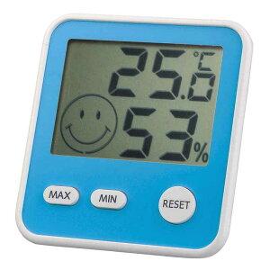 エンペックス エンペックス 「おうちルーム デジタルmidi温湿度計」 TD-8416 青