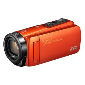 JVC SD対応 64GBメモリー内蔵 防水・防塵・耐衝撃フルハイビジョンビデオカメラ GZ-RX690-D オレンジ