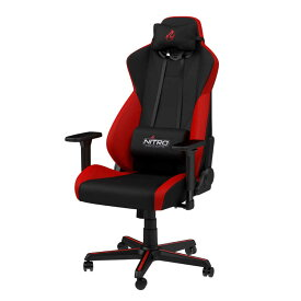 NOBLECHAIRS ゲーミングチェア Nitro Concepts(ナイトロ・コンセプツ)S300 NC-S300-BR レッド