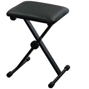 キクタニ キーボードベンチ ピアノイス X型(ブラック) KB60