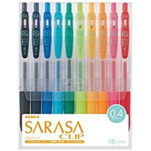 ゼブラ サラサクリップ 10色セット(ボール径:0.4mm) JJS15-10CA