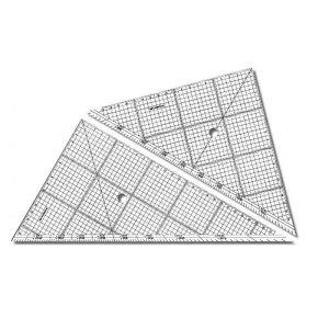 ステッドラー レイアウト用方眼三角定規 30cm 966 30