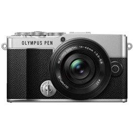 オリンパス OLYMPUS OLYMPUS PEN E-P7 14-42mm EZ レンズキット ミラーレス一眼カメラ シルバー [ズームレンズ] EP71442MMEZレンズキット