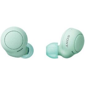ソニー SONY フルワイヤレスイヤホン [マイク対応 /ワイヤレス(左右分離) /Bluetooth] WF-C500GZ アイスグリーン
