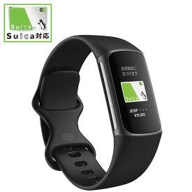 FITBIT 【Suica対応】 Fitbit Charge5 GPS搭載フィットネストラッカー L/Sサイズ Fitbit FB421BKBKFRCJK