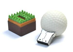 【おもしろUSBメモリ4GB/ゴルフボールタイプ】全4色大容量4GB高速USB2.0転送
