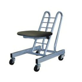 高さ調節 昇降 低姿勢 立ち仕事 中腰 作業 椅子 ブラック/シルバー 日本製 キャスター ( オフィスチェア 低い 低い椅子 事務いす キャスター付き椅子