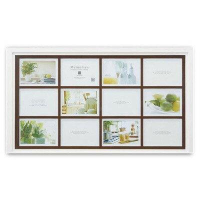 写真立て 木製 フォトフレーム 12枚用 ホワイト 壁掛け 卓上【 写真たて フォトスタンド 写真スタンド 】 送料無料 送料込 学割 プレミアム