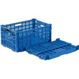 コンテナ 折りたたみ 重ね置き スタッキング 5個セット ブルー 倉庫 物置 用 屋外 庭 ベランダ【 屋外収納 ワイドストッカー 収納ボックス ストッカー カートランク RVボックス 工具ケース 工