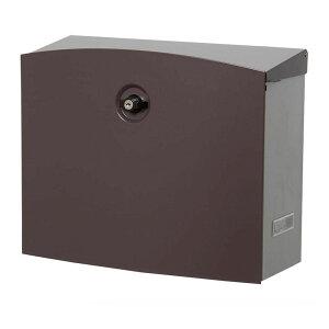 郵便ポスト ポスト 郵便受け 玄関 設置 屋外用 おしゃれ 壁掛け 壁面取付 縦型 大型 鍵付き A4 メール便 茶色 シンプル 和風 新聞受け メールボックス