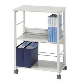 書類棚 書庫 本棚 スチール キャビネット オフィス 棚 収納 キャスター付き a4 スチールラック スチール棚 ファイルワゴン サイドワゴン 幅60 奥行40 高さ85