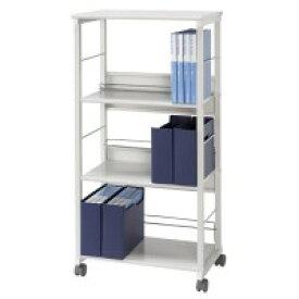 書類棚 書庫 本棚 スチール キャビネット オフィス 棚 収納 キャスター付き a4 スチールラック スチール棚 ファイルワゴン サイドワゴン 幅60 奥行40 高さ120