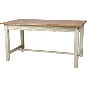 ダイニングテーブル おしゃれ 安い 北欧 食卓 テーブル 単品 4人用 四人用 3人 145×85 アンティーク ホワイト 白 t字脚 机 会議用テーブル カフェテーブル ミーティングテーブル