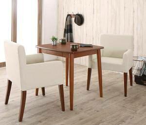 ダイニングテーブルセット 2人用 椅子 一人暮らし コンパクト 小さめ ワンルーム おしゃれ 安い 北欧 食卓 3点 ( 机+チェア2脚 ) 幅75 デザイナーズ クール スタイリッシュ ミッドセンチュリー
