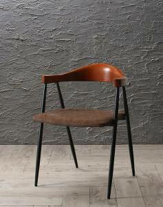 ダイニングチェア 椅子 おしゃれ 北欧 安い アンティーク 木製 シンプル ( 食卓椅子 1脚 ) 座面高44 レザー 合皮 完成品 背もたれ シートクッション アイアン コンパクト 小さめ 西海岸 ヴィン