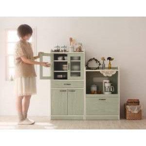 レンジ台コンパクトミニキッチン収納幅60ホワイト白グリーン緑