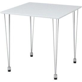 ダイニングテーブル おしゃれ 安い 北欧 食卓 テーブル 単品 正方形 2人用 二人用 コンパクト 小さめ 一人暮らし 75×75 モダン ホワイト 白 アイアン脚 机 会議用テーブル カフェテーブル ミーティングテーブル
