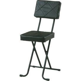 パイプ椅子 折りたたみ椅子 折り畳み椅子 イス 椅子 チェア おしゃれ 安い 軽量 コンパクト フォールディング ブラック 黒 背もたれ 背もたれ付き