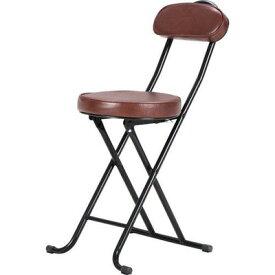 パイプ椅子 折りたたみ椅子 折り畳み椅子 イス 椅子 チェア おしゃれ 安い コンパクト ブラウン 茶色 会議イス 背もたれ 背もたれ付き 会議 格安