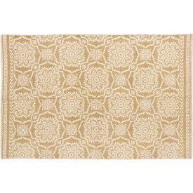 玄関マット おしゃれ 室内 北欧 安い ラグ カーペット ラグマット 1畳 アジアン 薄型 ギャッベ 玄関 キリム 小さい 90×140 イエロー 黄色