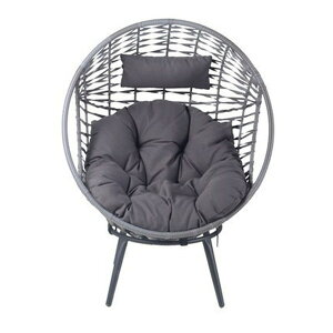 ガーデンチェア おしゃれ 椅子 チェア 屋外 カフェ テラス ガーデン 庭 ベランダ バルコニー アジアン アウトドア グレー