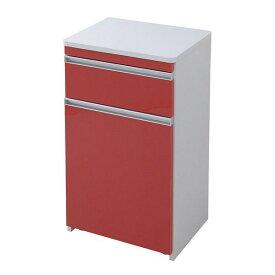 ゴミ箱 ごみ箱 ダストボックス キッチン おしゃれ 幅50 キャスター キャスター付き 収納 14l 28l 約30l 分別 スリム レッド 赤 30リットル 30l 30 15リットル