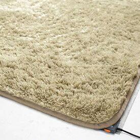 ホットカーペット & カバー 2畳 二畳 186×186 シャギーラグ ラグ カーペット じゅうたん ラグマット 絨毯 安い ふわふわ 厚手 ふかふか もこもこ 北欧 おしゃれ あったか