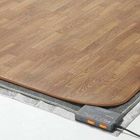 ラグ カーペット じゅうたん ラグマット 絨毯 安い ホットカーペット 防水 木目調 カバー セット 2畳 (198×200) マット 電気マット 厚手 長方形 洗える