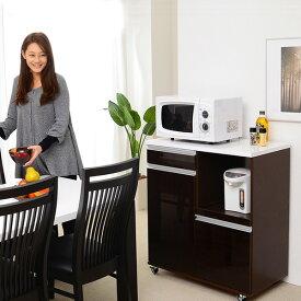 レンジ台 食器棚 おしゃれ 北欧 安い キッチン 収納 棚 ラック 木製 ロータイプ 約 幅80 奥行45 白 カウンター ワイド スライド 炊飯器置き場 引き出し 大容量 キャスター ワゴン 調味料 レンジボード コンセント