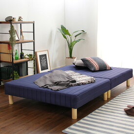 ベッド 安い セミダブル セミダブルベッド セミダブルサイズ ローベッド 低いベッド 低い (ポケット マットレス付き コイル・セミダブル用)