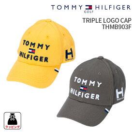 トミーヒルフィガーゴルフ キャップTRIPLE LOGO CAP THMB903FTOMMY HILFIGER GOLF 新カラー追加帽子 CAP フリーサイズ 57cmギフト プレゼント 2019 秋冬カラー