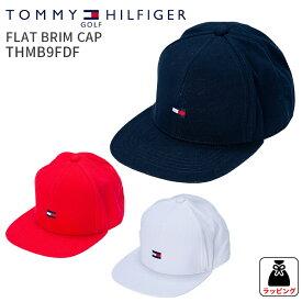 トミーヒルフィガーゴルフ フラットブリムキャップ FLAT BRIM CAP THMB9FDFフラットブリムキャップ 2019FW 帽子ゴルフ用品 ギフト 贈り物