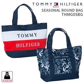 トミーヒルフィガーゴルフ ラウンドバッグSEASONAL ROUND BAG THMG0SBGシーズナル ラウンドバッグ2020SS TOMMY HILFIGER GOLFミニトート ラウンドトート ボーダー ボタニカル