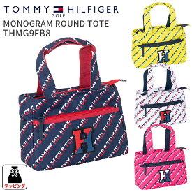 トミーヒルフィガーゴルフ ラウンドトートバッグMONOGRAM ROUND TOTE THMG9FB8モノグラムラウンドトート 2019FWファスナートート ファスナー付き ミニトートゴルフ用品 ギフト 贈り物