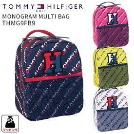 トミーヒルフィガーゴルフ マルチバッグMONOGRAM MULTI BAG THMG9FB9モノグラムマルチバッグ 2019FWミニバッグ ファスナー付き ミニポーチ ポーチゴルフ用品 ギフト 贈り物